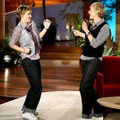 Hilary Swank and Ellen DeGeneres