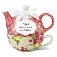 Mother Autumn Rose Floral Tea for One by Jessie Steele Tea For One, My Tea, Rosen Tee, Autumn Rose, Tea Pot Set, Tea Gifts, Christmas Gifts For Mom, Chocolate Pots, Chocolate Cake