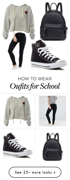 """Outfit for school"" by michelle0123 on Polyvore featuring Sans Souci, ASOS and Converse"