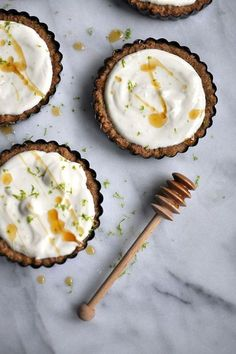Ricotta-Lime Tarts in Walnut Crust | @styleminimalism