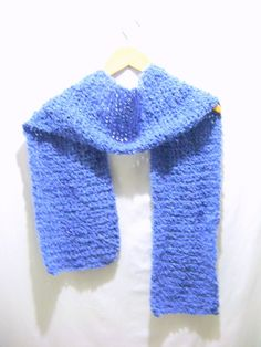 Sky Blue Crochet Scarf by BenitaMarie on Etsy