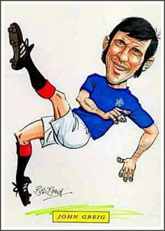 John Greig of Rangers in cartoon mode.