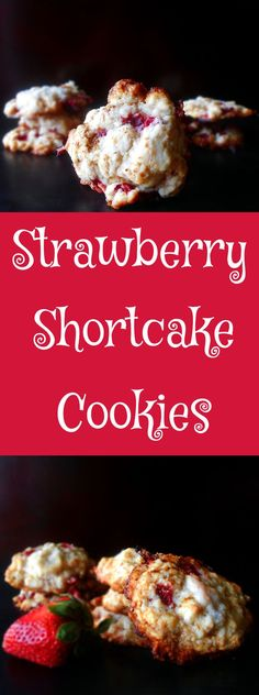 Strawberry Shortcake is delicious but it can be very messy.  This strawberry shortcake cookies can be taken anywhere.  Perfect for summer picnics, late night snacks or as a dessert cookie.
