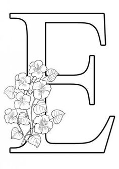 Betű A4 Embroidery Alphabet, Free Motion Embroidery, Embroidery Patterns, Quilling Letters, Paper Quilling Cards, Fancy Letters, Floral Letters, Letter A Crafts, Letter Art