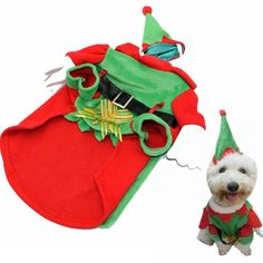 Visky cat Santa Costume Christmas Cltohes Dog Winter Coat--M * Check this awesome image  : Cat sweater