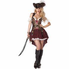 Pirate Costume Couple, Female Pirate Costume, Warrior Costume, Goddess Costume, Pirate Wench Costume, Cowgirl Costume, Girl Costumes, Adult Costumes, Costumes For Women