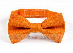 Boy's Bow Tie, Newborn, Baby, Child- Orange, Textured (2-3 Business Day Processing) on Etsy, $11.50