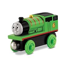 Percy is the No. 6 green engine and is the junior member of Sir Topham Hatt's railway. He is Thomas' best friend and his favourite job is delivering the mail. Percy can connect to other Wooden Railway engines and vehicles with magnet connectors. Perfect for Thomas & Friends Wooden Railway sets!