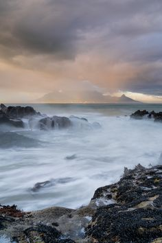 """Woke up this morning at 5:30 and my """"spidey senses"""" went off like  like crazy when I looked out the window.   So I grabbed my gear and headed out to Blouberg to catch a rainy sunrise.   At first it looked like it was going to be a total flop, but then a break in the clouds allowed the sun to break through and light up some rain cascading gently in the Cape Town city bowl and over Table Mountain. Sunrise Photography, Landscape Photography, Place To Shoot, Looking Out The Window, Table Mountain, Cape Town, Amazing Places, South Africa, The Good Place"""