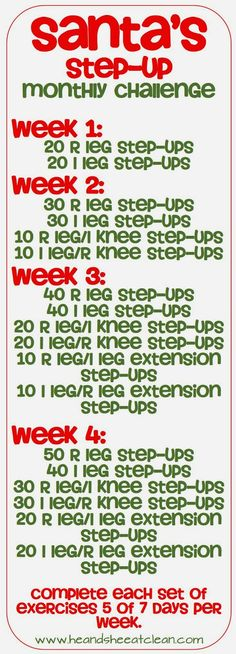 Step-Up Workout (thinking about this on the stair master too)