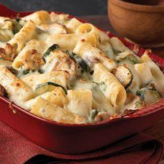 Creamy Zucchini & Spinach Rigatoni Recipe | MyRecipes.com Mobile