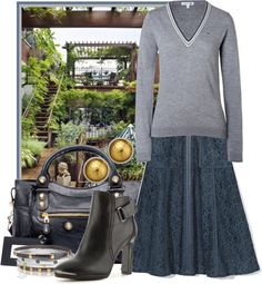 """""""Spring in a Brooklyn Garden"""" by ssquared on Polyvore"""