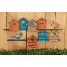 """""""Bird Bungalows"""" Wall Sculpture $49.95"""