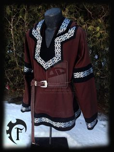 Brown and Black Larp Viking Tunic by Feral-Workshop