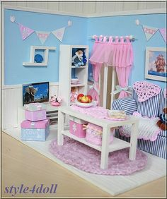 style4doll DIORAMA - shabby chic - for Lati Yellow , Pukifee (15-16cm)