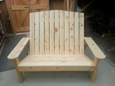 Adirondack Love Seat | Do It Yourself Home Projects from Ana White