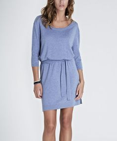 Take a look at this Blue Mélange Wool-Blend Mila Dress by Baukjen on #zulily today!  It looks like I can sleep in this dress!!!