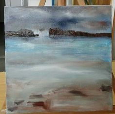 Commissioned abstract landscape underway.  Simple, moody,  atmospheric.