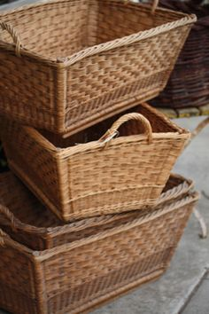 I actually use mine!  Large wicker french laundry baskets...LOVE THEM!