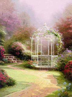 Lilac gazebo