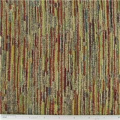 """Striped with Chenille Home Decor Fabric is 54"""" - 55"""" wide and 42% rayon, 31% polyester & 27% cotton.        CARE INSTRUCTIONS - Dry Clean Only.        Available in 1-yard increments. Average bolt size is approximately 14 yards. Price displayed is for 1-yard. Enter the total number of yards you want to order."""