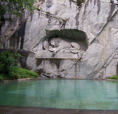 Lion Monument, Lucerne, Switzerland .  One of the most beautiful places that I have ever traveled to.