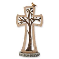 Enesco Legacy of Love Standing Tree Cross Wooden Crosses, Crosses Decor, Wall Crosses, Old Rugged Cross, Cross Art, Cross Crafts, Christian Art, Christian Crosses, Scroll Saw Patterns