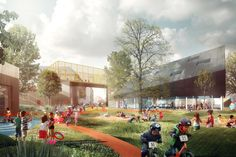 COBE + NORD architects + PK3 + grontmij | Prinsessegade kindergarten | Housing 618 children - diverse landscaped outdoors including pathways, mounds, gardens and trees cater for children's social and physical play