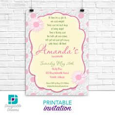 Daisy Bachlorette /Bridal Shower Invitation