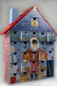 NEW Wooden Advent Calendar  Painted by StardustKay on Etsy