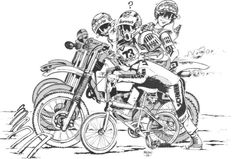 Line em' up! Bmx Racing, Bmx Freestyle, Bmx Bicycle, Rat Fink, Illustration Art, Illustrations, Bike Art, World Of Sports, Skate Park