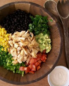 Southwestern Chopped Chicken Salad - This was SO good, you guys, and incredibly filling for a salad! Tim loved it too ;)