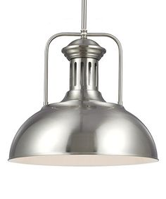 this brushed nickel beacon street single light pendant is perfect zulilyfinds beacon lighting pendant lights
