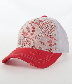 Lace Overlay Hat - if only hats liked my child sized head! Caps Hats, Women's Hats, Boot Bling, Diy Hat, Cool Style, My Style, Country Outfits, Cowgirl Style, Lace Overlay