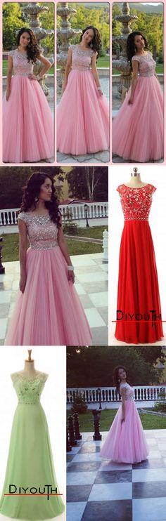 Diyouth.com Hot Sale Sheath/Column Floor-length Satin Prom Dresses SAPD-40012,beaded prom dresses,beading evening dresses,open back prom dresses, red prom dress,backless evening gown