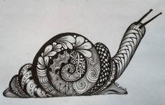 snail, Dusty Darrah, cZT, Zentangle
