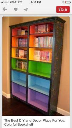 Rainbow bookcase