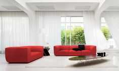 Divano moderno rosso Forum di Linea Italia. Living Divani, Curtains, Collection, Home Decor, Black, Hotels, Restaurants, Architecture, Interiors