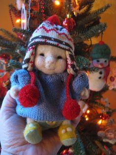 Needle Felted Winter Baby (Barb Soet)