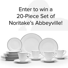 Want to win 20 -Piece Set of Noritake Abbeyville (4 Place Settings)? I just entered to win & you can too:  http://is.gd/EVSciX