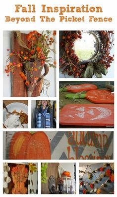 fall decorating ideas .beyondthepicketfence.blogspot.com