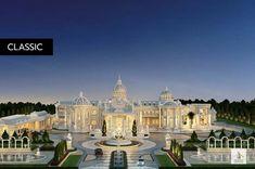House Plans Mansion, Dream Mansion, Huge Mansions, Mansions Homes, Dream Home Design, House Design, Dubai Houses, Beautiful House Plans, Home Building Design