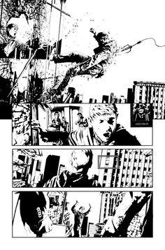 Green Arrow #17 art by Andrea Sorrentino.