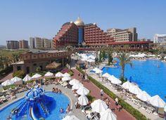 Antalya, Turkije, Hotel Delphin, Palace Deluxe 5*. Luxe hotel, direct aan zandstrand gelegen in Lara. Veel aantal faciliteiten, mooie zwembaden