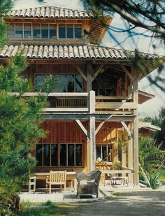 The Great House of the Pointe du Cap-Ferret Define Architecture, Sustainable Architecture, Architecture Details, Vernacular Architecture, Hawaii Homes, Beach Wood, Surf Shack, Wooden House, Modern Buildings