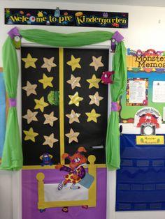 Monster classroom door.