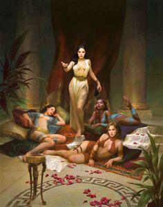 Fantasy Art Women, Dark Fantasy Art, Fantasy Girl, Fantasy Artwork, Fantasy Inspiration, Character Inspiration, Character Art, Erotic Art, Fantasy Characters