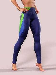 Shaping Leggings Women Push Up Apparel Printed Activewear Blue Green Yoga Pants High Rise Bottoms Lycra Spandex Gym Dance Fitness Tights Catsuit, Sports Leggings, Women's Leggings, Sport Jumpsuit, Push Up, Gym Style, Fitness Style, Fitness Tips, Fashion Clothes