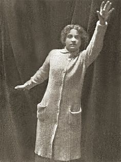 """Silent film star Dorothy Gibson in a promotional photo for her 1912 short """"Saved From the Titanic."""" She wears the same dress and sweater in which she escaped Titanic a month before the movie premiered."""