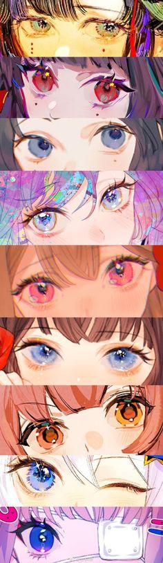 Anime Art Girl, Manga Art, Manga Watercolor, Eye Painting, Anatomy Art, Anime Eyes, Eye Art, Look At You, Pretty Art